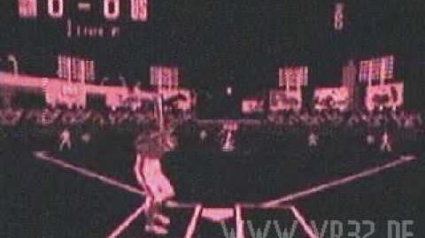 Virtual League Baseball In-game footage (Virtual Boy)