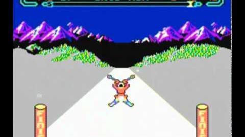 Slalom - NES Gameplay