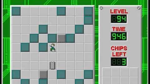 Chip's Challenge 1 level 94 solution - 906 seconds