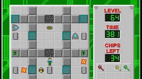 CCLP2 level 64 solution - 348 seconds