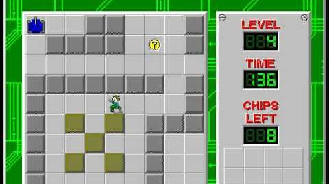 Chip's Challenge 1 level 4 solution - 116 seconds