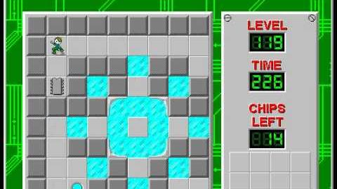 Chip's Challenge 1 level 119 solution - 210 seconds