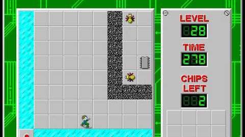 CCLP2 level 28 solution - 266 seconds