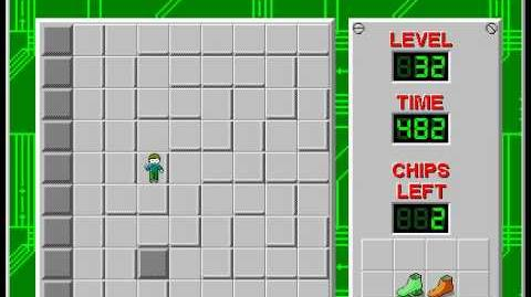 Chip's Challenge 1 level 32 solution - 379 seconds