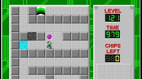Chip's Challenge 1 level 121 solution - 968 seconds