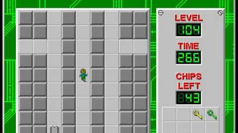 Chip's Challenge 1 level 104 solution - 235 seconds