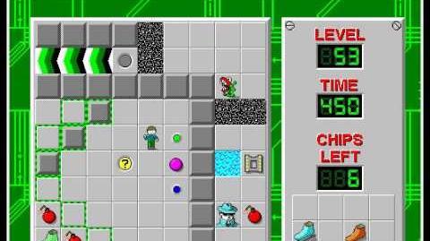 CCLP1 level 53 solution - 408 seconds