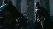 TDKR- Joe Fishel stuntman as Orange-lined policeman between Bane & Batman