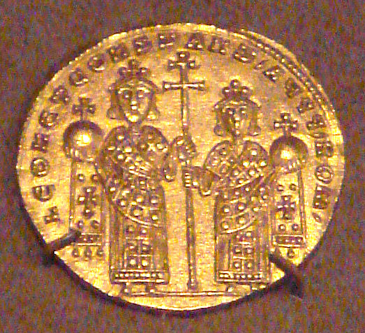 File:GoldSolidusLGold Coin of Byzantine Emperor Leo VI And Constantin VII.jpg