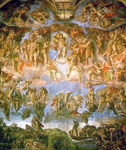 File:Michelangelo - Fresco of the Last Judgement.jpg