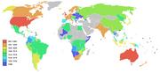 Salvation army world map