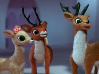 Rudolph with Clarice and Donner