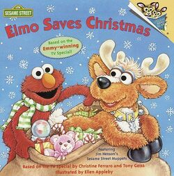 Elmo Saves Christmas book
