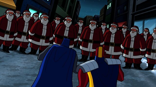 File:Batman and Red Tornado vs the robot Santas.jpg