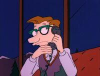 Drew on the phone