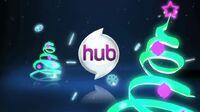 The Hub Christmas logo