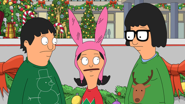 File:Gene, louise and tina in christmas sweaters.jpg
