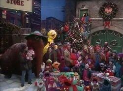 Elmo Saves Christmas cast shot