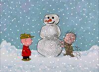 Pig-pen's snowman