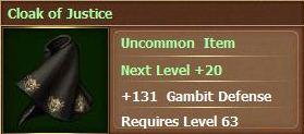 Cloak of justice