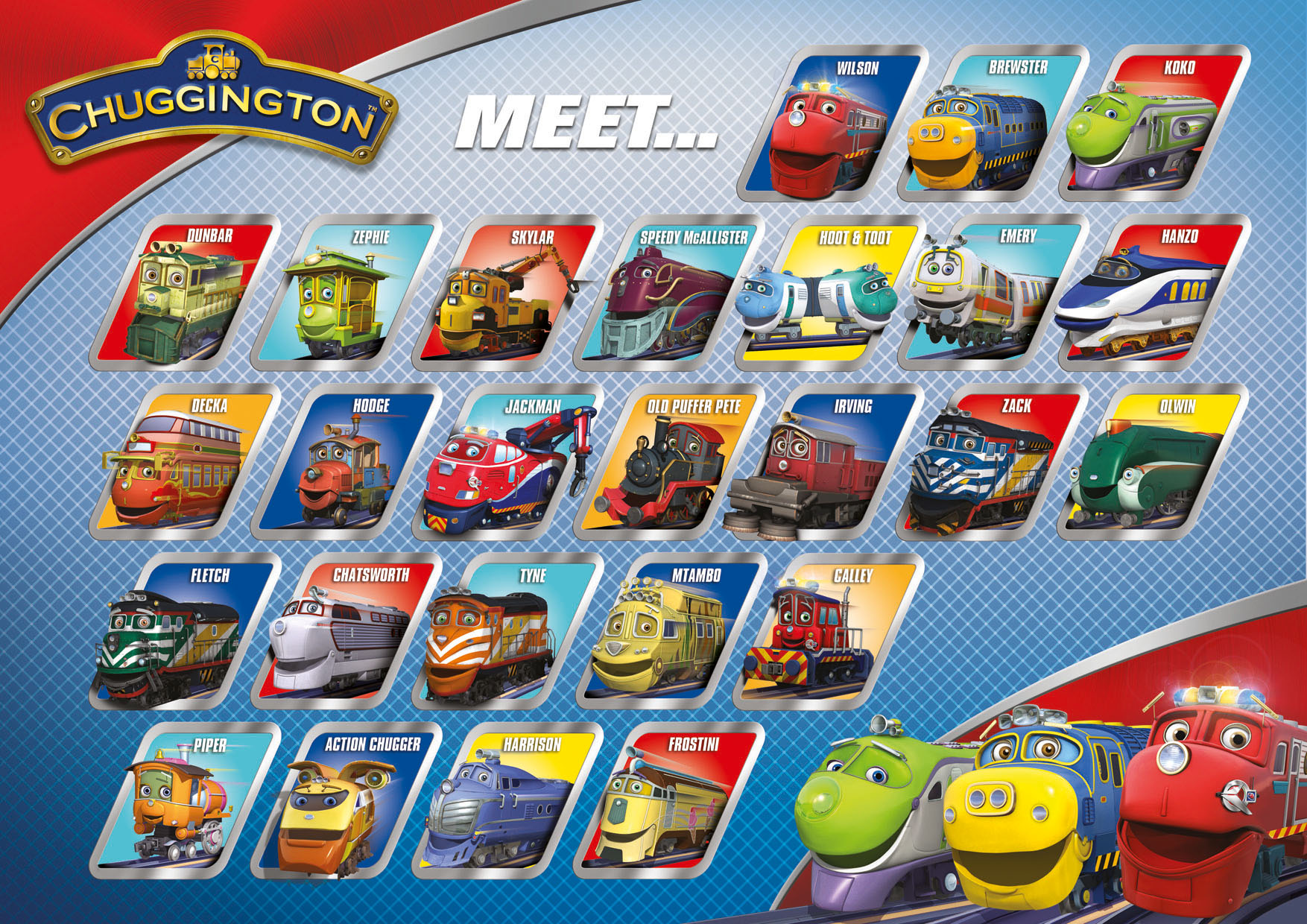 image chuggington meet the chuggers poster jpg chuggington