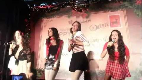 Cimorelli Sings Santa Claus is Coming to Town at Santa Monica Place 11 17 12-0