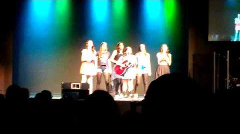 Cimorelli performing Heart Attack by Demi Lovato at the Benefit Concert