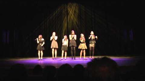 """""""Don't Stop Believing"""", GLEE version, cover by Cimorelli live at the WIN Awards-0"""