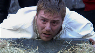 Steven Waddingto just before his death in The Tudors-Simply Henry