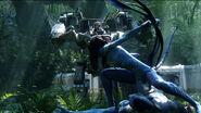 Neytiri protects Jake 2