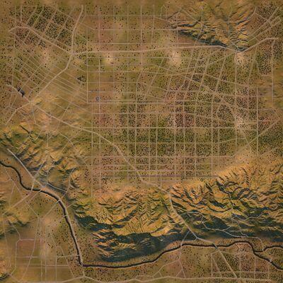 Hollywood satellite map