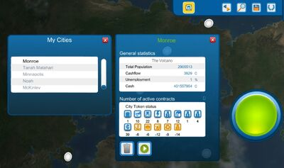 My Cities Menu