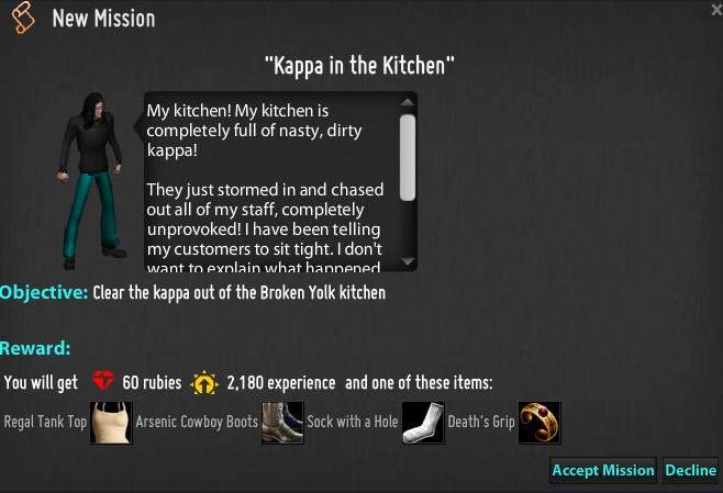 Kappa in the Kitchen mission