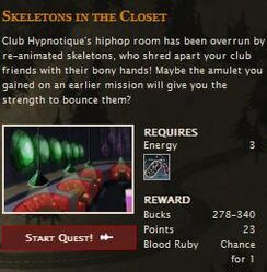 Seletons in the closet FB quest