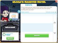 Halloween hotel menu