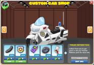 Police Motorcycle menu