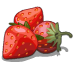 Fruit stand strawberry