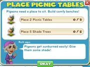 Place picnic tables goals