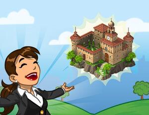Announce italian castle