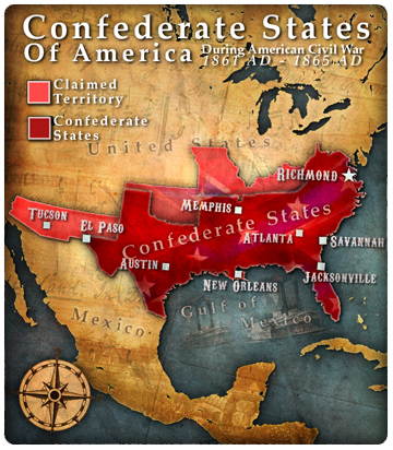 Confederate States Of America Jefferson Davis Civilization V - The confederate states us territories and united states map