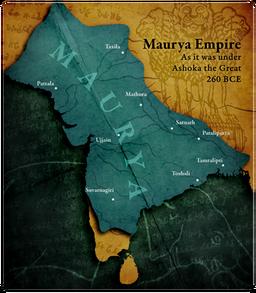 Maurya Map