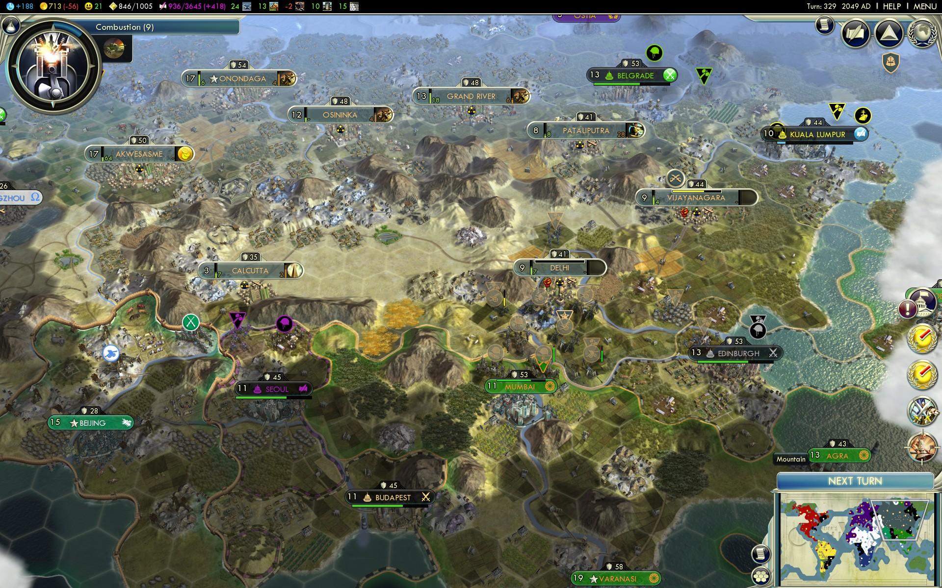 Bản đồ của tựa game Standard Earth
