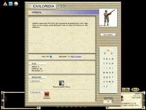 Civilopedia - Infantry (Civ3)