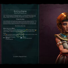Cleopatra on the loading screen