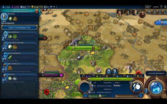 File:Civilization VI - Devs play as Brazil screenshot - Choose research.jpg