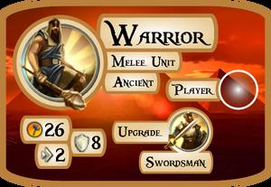 Warrior Info Card