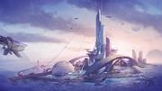 Rising Tide aquatic city load screen