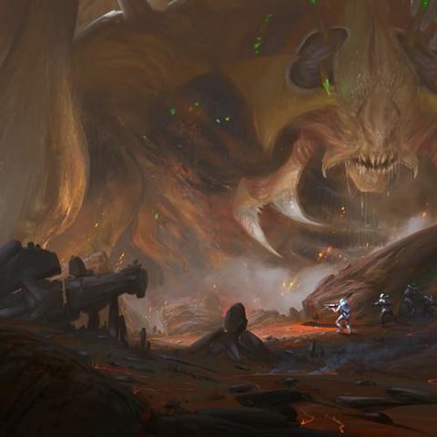 Xeno Titans as illustrated on <i>Rising Tide</i> loadscreen