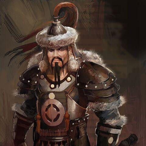 Concept art of Genghis Khan