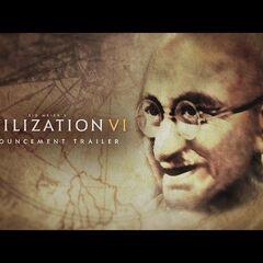 Image of Gandhi from <i>Civilization VI</i> announcement trailer